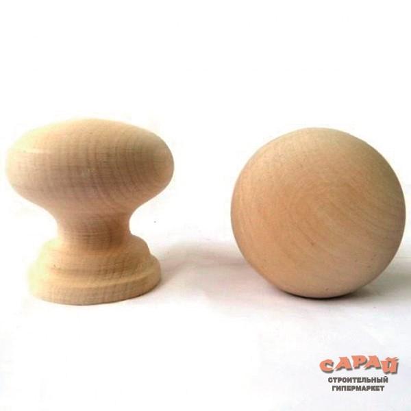 Ручка кнопка деревянная